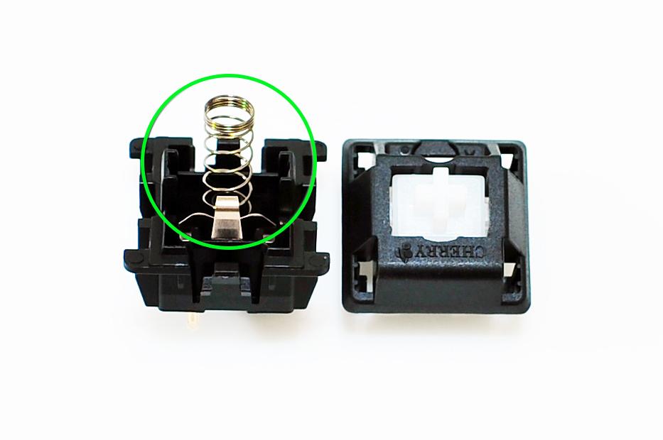 軸承內都會有原廠彈簧,將它更換不同重量的加購彈簧,即可調製獨特的抒心手感。